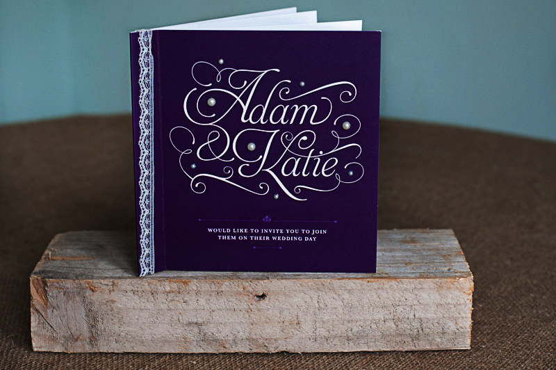 Typography Booklet with Lace