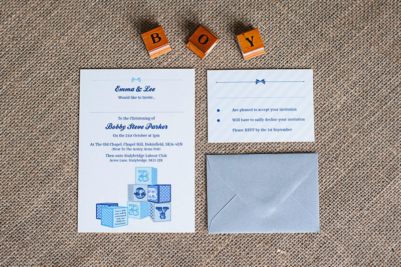 3 Part Packaged Christening Invitation