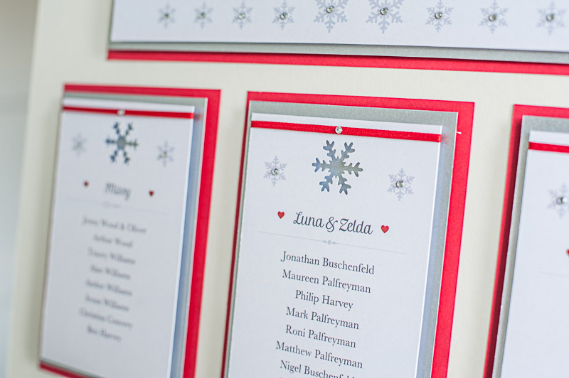 Winter Wonder Bespoke Table Plan