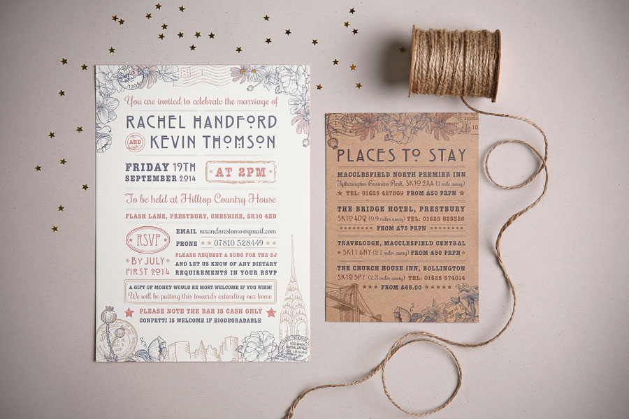 Rustic Wedding Stationery Set