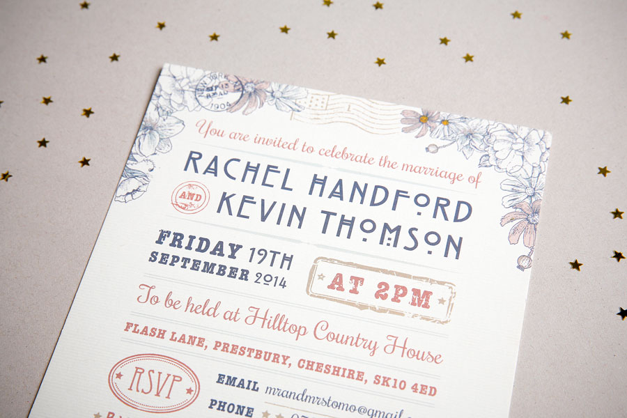 New York wedding invitation details