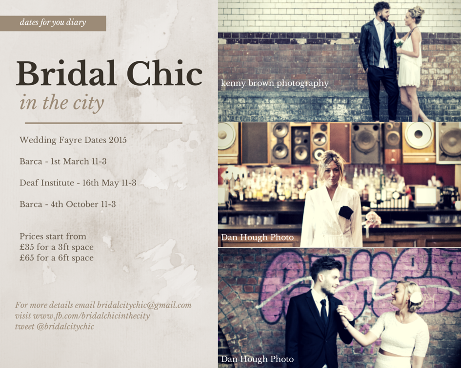 Bridal Chic In The City wedding fayre 2015
