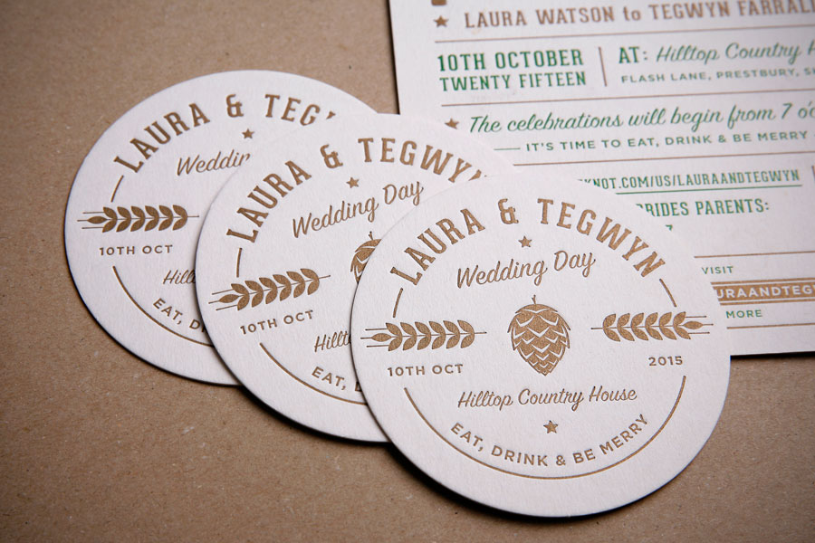 craft beer letterpress beer mats