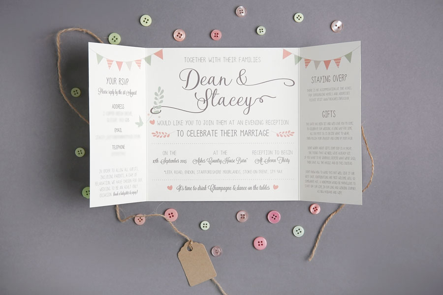 vintage inspired wedding invitaion