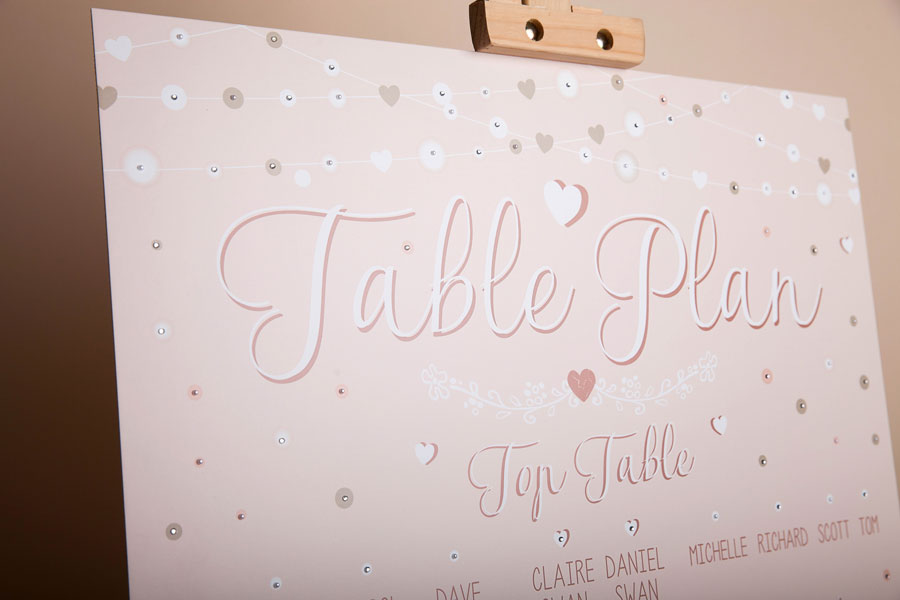 Blush Pink Table Plan & Order of Day