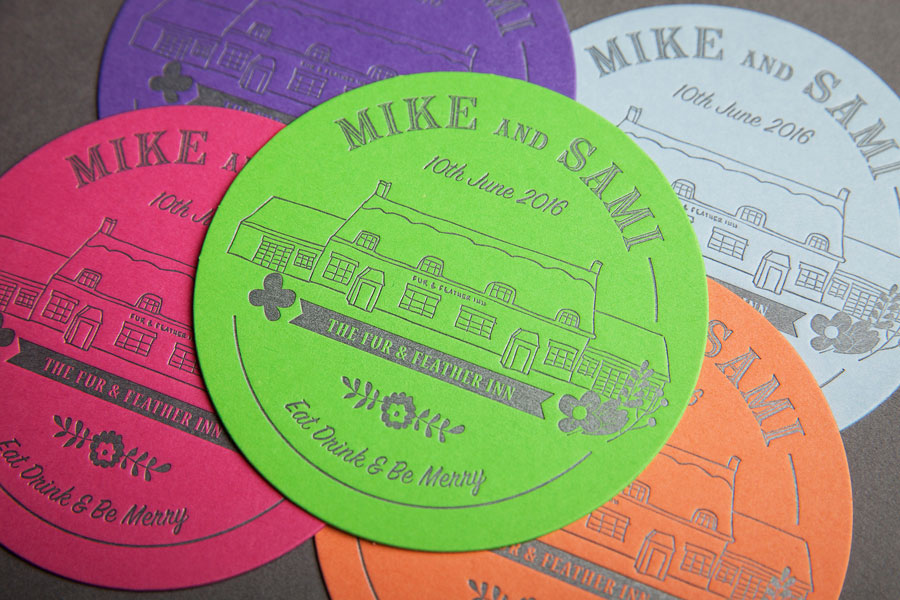 Wedding beer mats